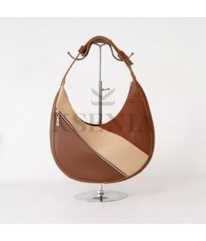 Женская сумка-полумесяц КСЕНИЯ №89-20/3 33х21х8 Рыжий